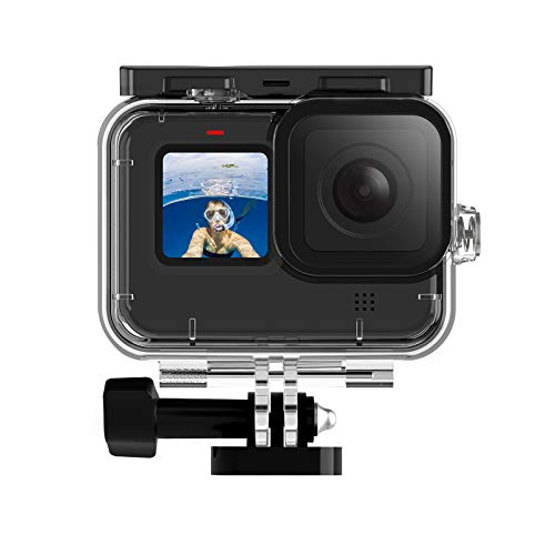 Photo of TELESIN Waterproof Housing Case for Gopro Hero 9 Black, 50M Underwater Diving Transparent Protective Cover Shell with Quick Release Mount for Gopro HERO9 Black Action Camera