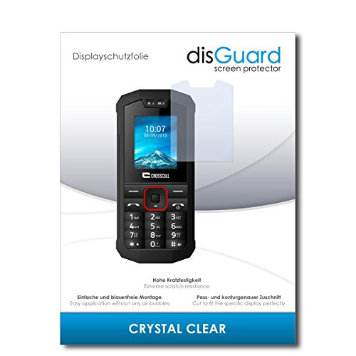 disGuard® Bildschirmschutzfolie [Crystal Clear] kompatibel mit Crosscall Spider X1 [2 Stück] Kristallklar, Transparent, Unsichtbar, Extrem Kratzfest, Anti-Fingerabdruck - Panzerglas Folie, Schutzfolie