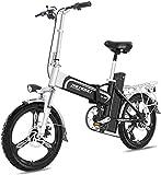 MQJ Ebikes Bicicletas Eléctricas Rápidas para Adultos Bicicleta Eléctrica Ligera de 16 Pulgadas Ruedas de 16 Pulgadas Portátil Ebike con Pedal 400W Asistencia de Alimentación Aluminio Bicicleta Eléct