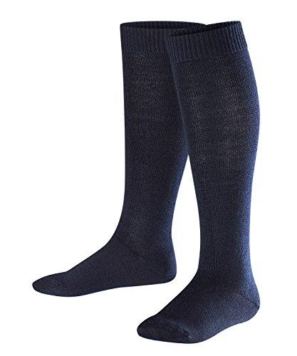 FALKE Kinder Kniestrümpfe Comfort Wool - Merinowoll-/Baumwollmischung, 1 Paar, Blau (Dark Marine 6170), Größe: 31-34