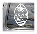 Right Now Decals - Guam Island Seal - Chamorro Chamoru Native - Cars Trucks Moped Helmet Hard Hat Auto Automotive Craft Laptop Vinyl Decal Store Window Wall Sticker 07101