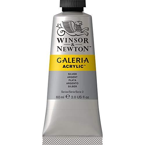 Winsor & Newton 2120617 Galeria Acrylfarbe, hohe Pigmentierung, lichtecht, buttrige Konsistenz, 60 ml Tube - Silber