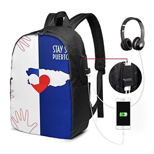 Laptop Rucksack Business Rucksack für 17 Zoll Laptop, Wiederherstellung Schulrucksack Mit USB Port für Arbeit Wandern Reisen Camping, für Herren Damen