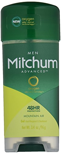 Mitchum Advanced Gel Anti-Perspirant & Deodorant, Mountain Air, 3.4 Ounce (Pack of 4)