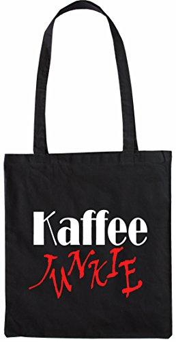 Mister Merchandise Shopping Tasche Beutel Kaffee Junkie Jutebeutel natur Öko Schwarz