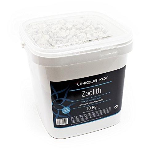 WilTec Unique Koi Zeolita 10kg granulado 9-16mm Medios filtrantes para estanques Aglutinante de fosfato