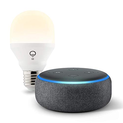 Echo Dot (3rd Gen) Charcoal Bundle with LIFX Wi-Fi Smart Bulb