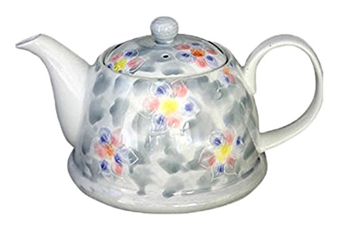 プレフィックス補助驚くばかり急須 おしゃれ ポット : 有田焼 グレーダミ花 (M)ポット Japanese Tea pot Pottery/Size(cm) 17.2x11x9.3/No:618683