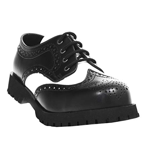 Boots & Braces - 4-Loch - Budapester - schwarz/weiss