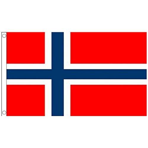 Naicasy 150x 90cm Norwegische Flagge