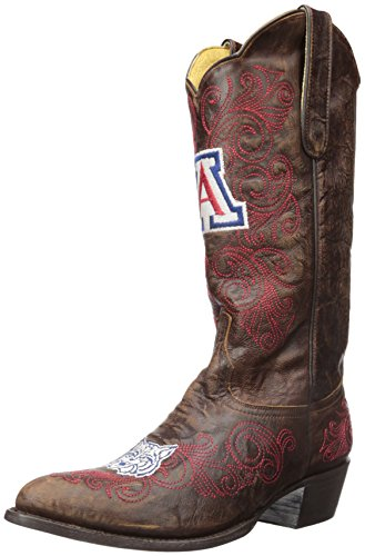Gameday Boots NCAA Ladies 13 inch University Boot Arizona Wildcats, 9.5 B (M) US, Brass