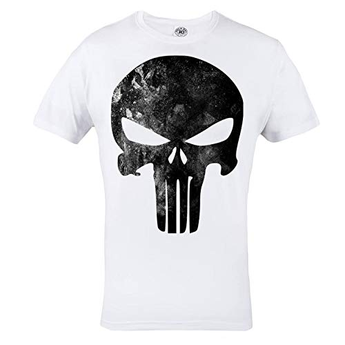 Rule Out t-shirt. punisher. supereroe palestra. bodybuilding. allenamento. sportswear. crossfit. fitness. MARZIALE arti. Casual - Bianco, Medium