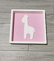 """Quadretto In Legno""""giraffa"""" Per Cameretta Bimba"""