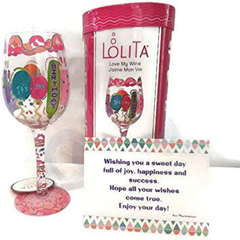 Lolita It S My Birthday Wine Glass Hand Painted Best Birthday Gift For Women Best Friend Sassy Girl Fun Birthday Gift