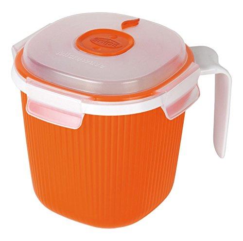 Snips Mikrowellen-Wärmer für Milch, Tee und Suppe, 0,7 l, Orange