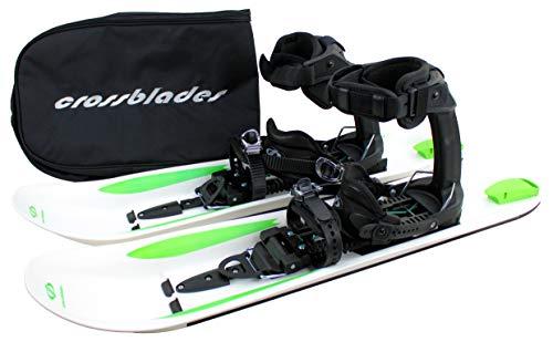 Crossblades - Raquetas de nieve Softboot, sistema de esquí de travesía, incluye placa y funda