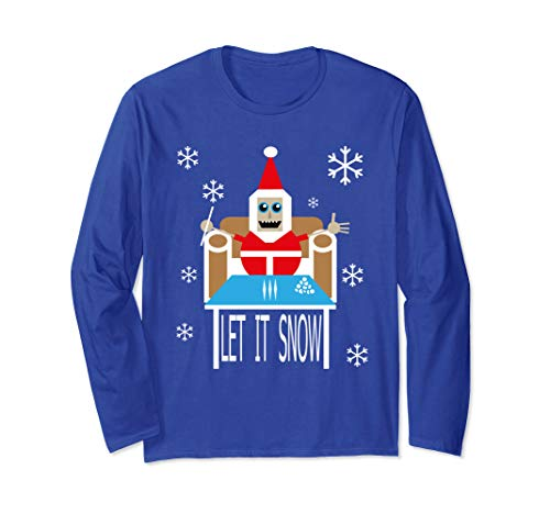 Cocaine Santa let it snow christmas sweater comic Long Sleeve T-Shirt