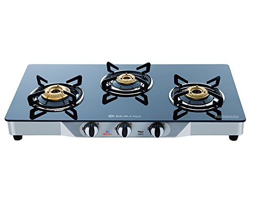 Bajaj Cgx3 Ss Eco, Gas Stove, Ss Glass Top 3 Burner