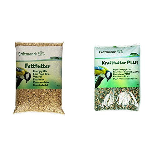 Erdtmanns Fettfutter, 1er Pack (1 x 5 kg) & Kraftfutter Plus, 1er Pack (1 x 2.5 kg)