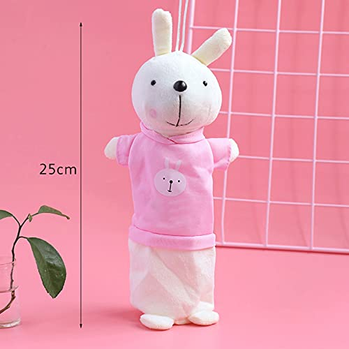 DEMXYA Bolsa de papelería de Almacenamiento, Conejo Creativo de Dibujos Animados, Peluche, Caja de papelería, Apto para niños, Estudiantes, niñas, niños, Regalos Infantiles Pluma (Color : Pink)