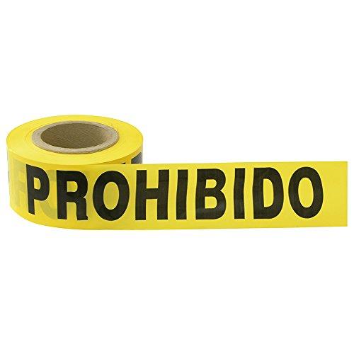 """Surtek 137302 Cinta Barricada""""Prohibido el paso"""", 304 mt"""
