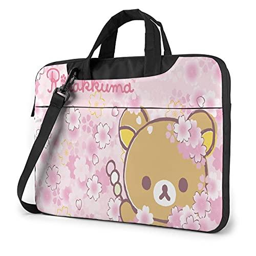 YANGDADAA 3D Rilakkuma Laptop Case 15.6 Inch, Laptop Carrying Case Slim Laptop Bag for Men Women, Lightweight 15.6 Inch Laptop Case