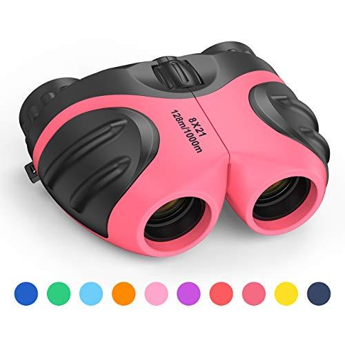 KITY 4-12 Jährige Mädchen Spielzeug,8x12 Teleskop FÜR Outdoor-Spielzeug FÜR Mädchen Von 3-12 Jahren ,EIN Cooles Spielzeug FÜR 4-12 Jährige (Rose rot)