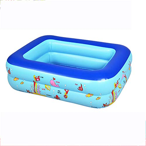 Inflatable Paddling Pool, Kids Inflatable Bathtub, Family Pool Rectangular for Outdoor Garden Backyard Kids Adult Summer Water Party