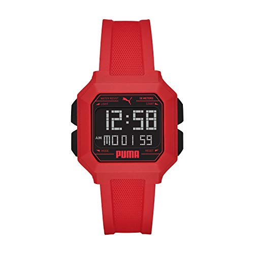 PUMA Men Remix Polyurethane Watch, Color: Red/Black (Model: P5055)