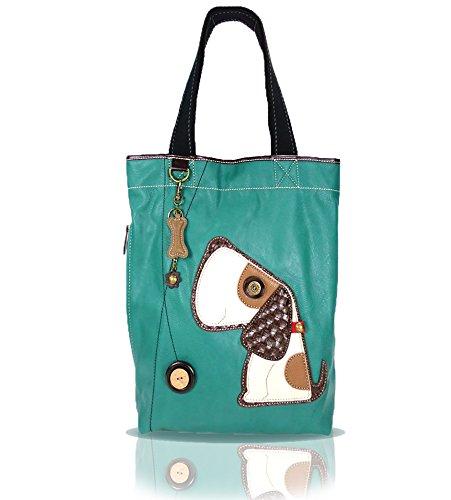 Chala Handbag Everyday Tote (Toffy Dog/Dark Turquoise)