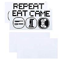 スリープゲームを食べるDIYウォールステッカーを繰り返すPVC自己粘着性ゲーム-リビングルーム用のパターンウォールステッカー子供部屋の装飾ウォールステッカー壁画
