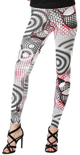 BeLady dameslegging enkellang van katoen afslankbroek met hoge band ondoorzichtige leggings vele patronen 36,38,40,42,44,46,48,50,52