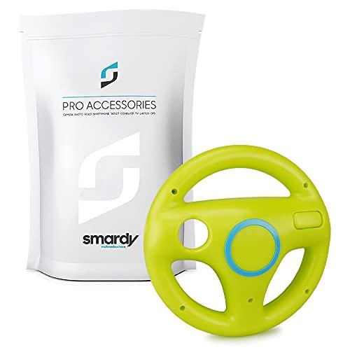 smardy Volante Racing   Corse verde compatibile con Nintendo Wii e Wii U Remote per Giochi Mario Kart