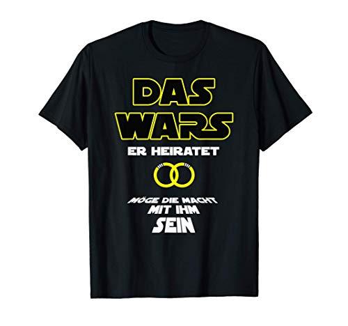 Herren Das wars er heiratet Junggesellenabschied Outfit Mann - JGA T-Shirt