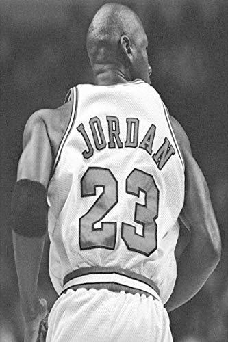 qianyuhe Cuadros artísticos de Pared Michael Jordan Jugador de Baloncesto Deporte Super Star Art Poster decoración del hogar 60x90cm (24x36 Pulgadas
