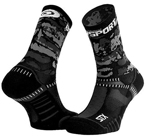 BV Sport Socquettes STX Evo Army Noires ET Grises Chaussettes Trail