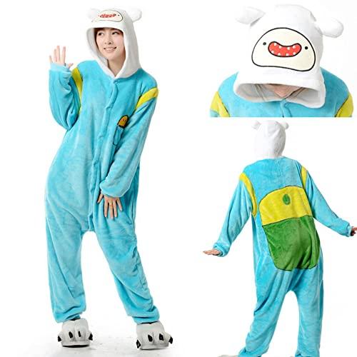 Enlace adulto Finn y Jake Onesies disfraz de aventura pijamas de perro amarillo Animal fiesta de Halloween monos Kigurumi