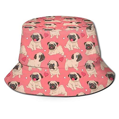 136 Divertido sombrero de carlino de dibujos animados, pescador de pesca, gorra de sol para adultos, mujeres, hombres, niñas, niños, unisex