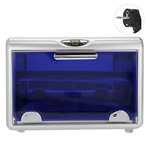 Caja desinfectante UV, doble capa, gabinete esterilizador de ozono y UV, herramientas de belleza para uñas, gabinete de desinfección, caja de limpieza de herramientas de metal(Enchufe de la UE)
