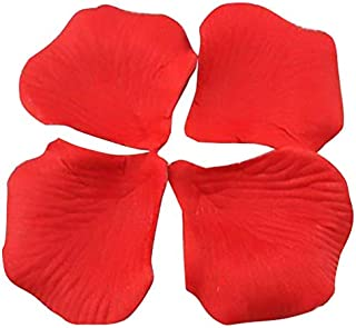 1000 piece Red Silk Rose Petals Artificial Flower Wedding Decor