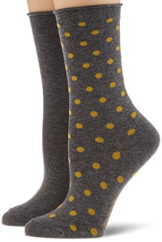 ESPRIT Damen Dot 2-Pack Socken, grau (Light Grey Mel. 3390), 39-42 (UK 5.5-8 Ι US 8-10.5) (2er Pack)
