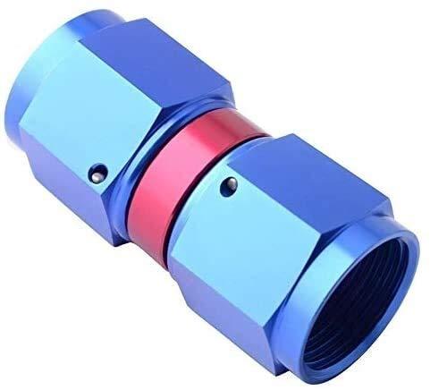 Accesorios roscados Adaptadores Acopladores rápidos Aleación de aluminio universal AN6 A AN6 Copoplador giratorio hembra recto Manguera Adaptador de ajuste Red-Blue Universal Unión de tuberías