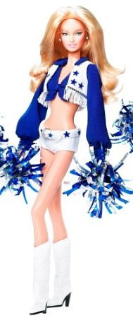 Dallas Cowboy Cheerleader Blonde Barbie ( Barbie ) Doll by Mattel doll doll figure ( parallel import )