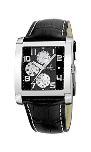 FESTINA Sport 16235/6 - Reloj Unisex de Cuarzo, Correa de Piel Color Negro