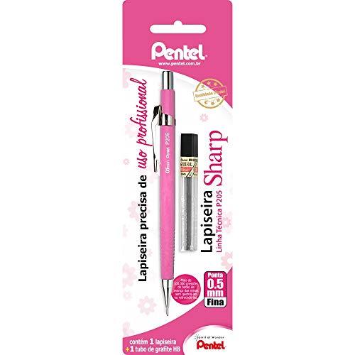 Lapiseira Sharp P205 0.5 Mm + Grafite, Pentel, Rosa