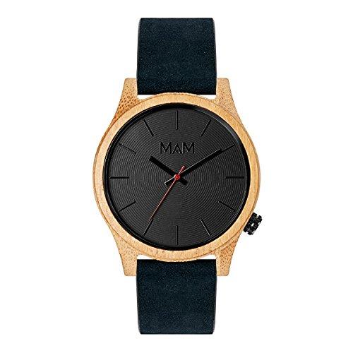 MAM Originals Herren Uhr Analog Quarz-Citizen GL30 mit Leder Nubuck Armband Quail Blue