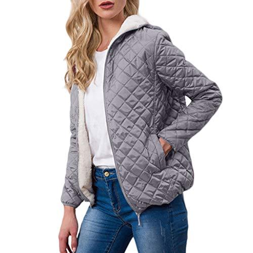 Hoodieswj Damesjas, dikke jas, casual met capuchon, parka's, bovenkleding, herfst, ruiten, warme jas, fleece slank voor de winter