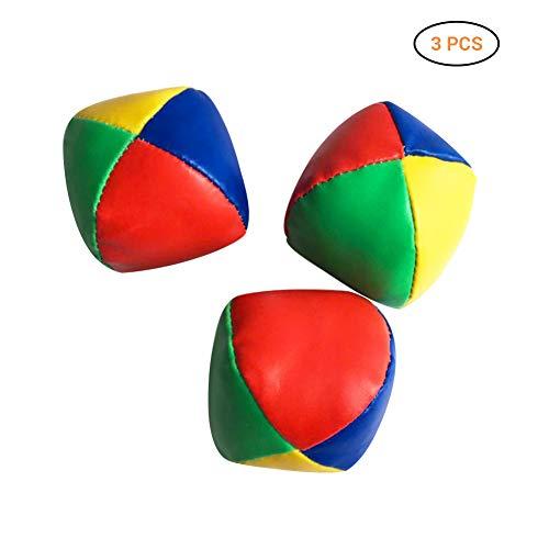 AimdonR 3 jongleerballen zachte jongleerballen rood/geel/blauw Een set van 3 jongleuren om te leren voor kunstenaars en cirkusjes.