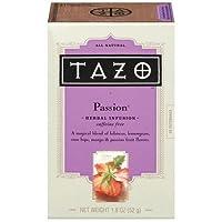 Tazo パッションカフェインフリーハーブティーバッグ  20袋入り x 2 並行輸入品