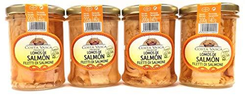 Lomos de Salmón en Aceite de Oliva COSTA VASCA - 200g - [4 unidades]